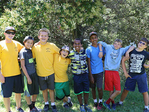 Junior High Boys Pose as a Group