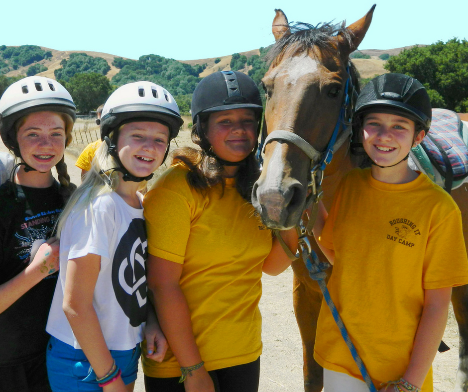 Day campers at horseback riding