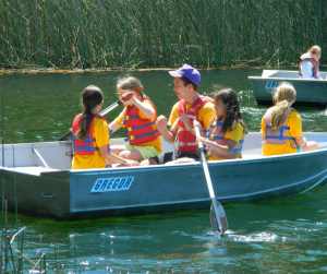 Campers learn rowing