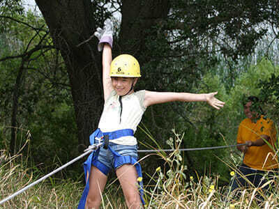 Teen Camper Practices Belaying at Sports