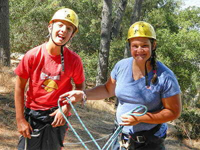 Teen Campers Learn to Belay in Sports
