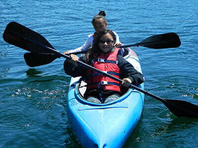 Teen Campers Learn to Kayak