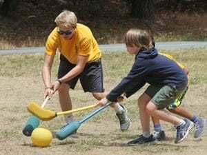 Teen Campers Play an Active Game in Sports