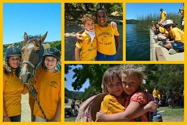 Camp Friends Pose Together at the Ride Site, the Reservoir, and the Fishing Docks