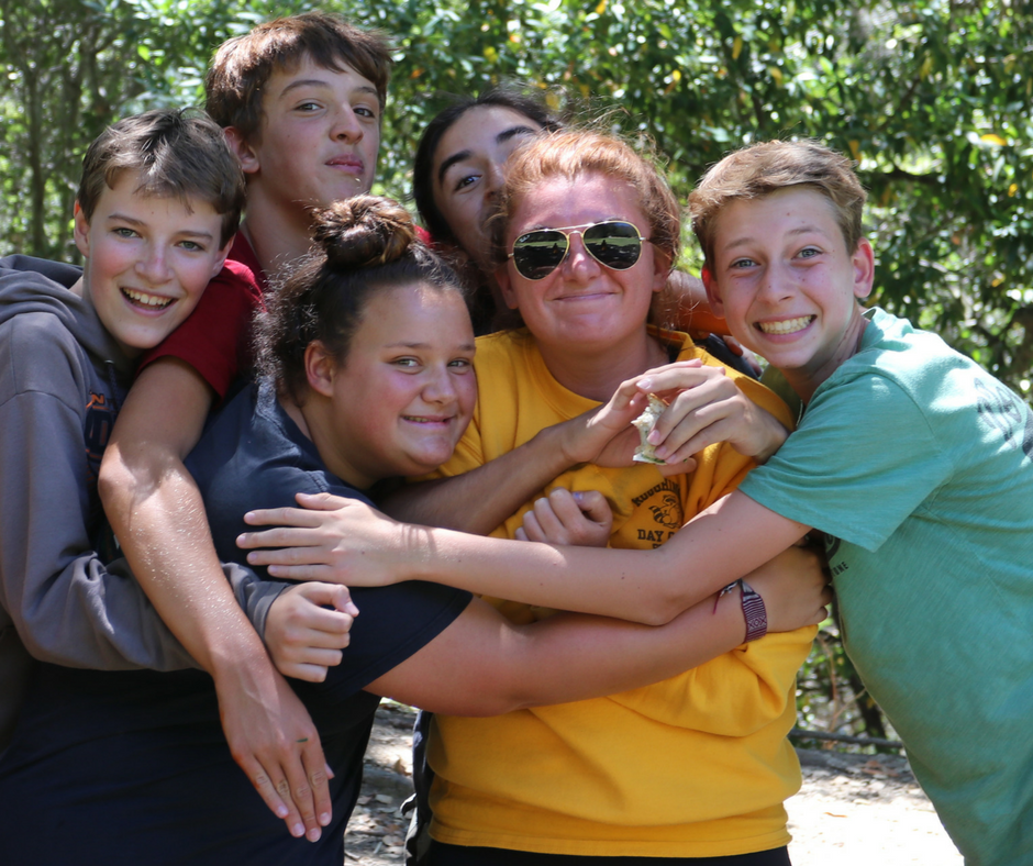 Campers love their counselor