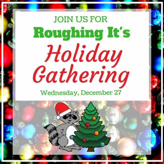 Join us for roughing it day camps holiday gathering for campers and staff